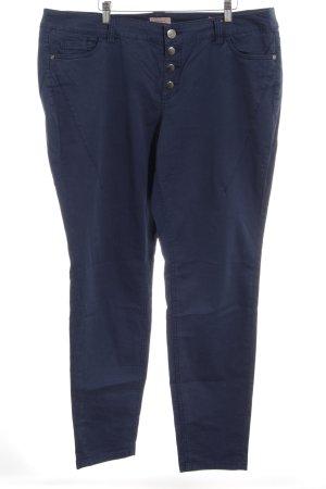 Triangle Drainpipe Trousers dark blue casual look
