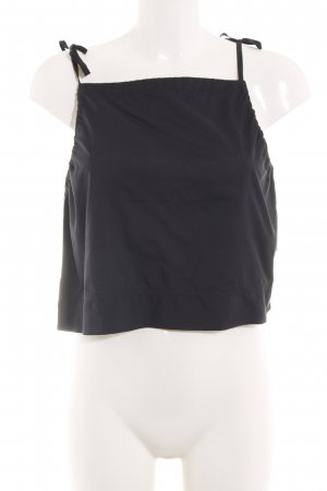 Triangle Spaghetti Strap Top black casual look