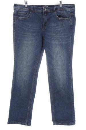 Triangle Straight-Leg Jeans dunkelblau Jeans-Optik