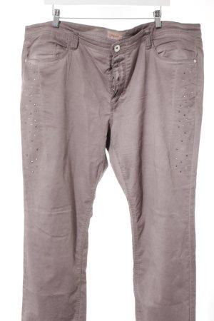 Triangle Jeans coupe-droite gris lilas style décontracté