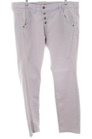 Triangle Straight-Leg Jeans hellgrau-silberfarben schlichter Stil