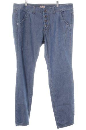 Triangle Straight-Leg Jeans stahlblau Casual-Look