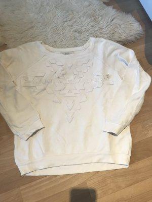 Bershka Fleece Jumper white-natural white