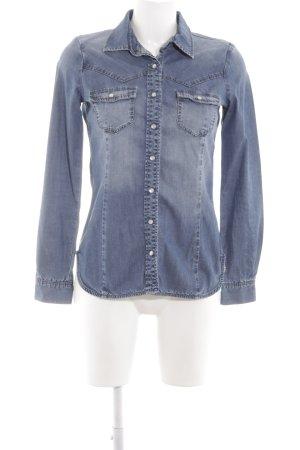 Tribeca New York Chemise en jean bleu style décontracté