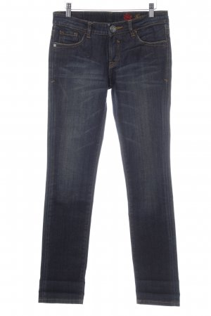 "Tribeca New York Straight-Leg Jeans ""Karen Slim Straight"" dunkelblau"