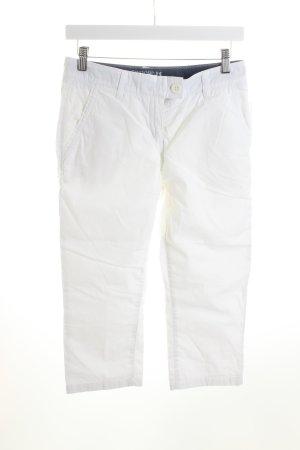 Tribord 3/4-Hose weiß schlichter Stil