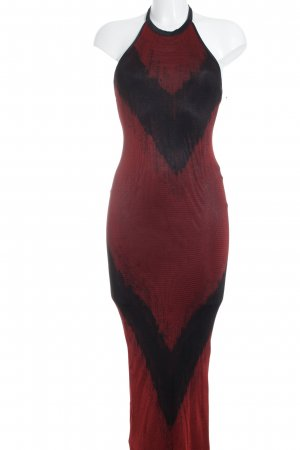 Tricia Jones Neckholderkleid dunkelrot-schwarz Elegant