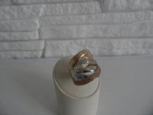 Tricolor Ring 585 mit Zirkonia steine Luxus Pur!