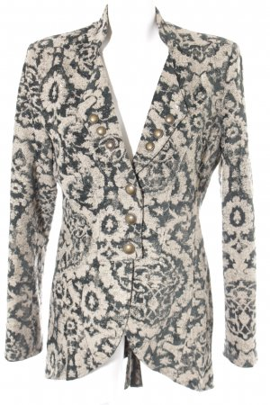 Tricot Chic Frock Coat sage green-dark green floral pattern extravagant style