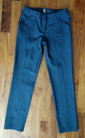 Pantalone elasticizzato blu acciaio