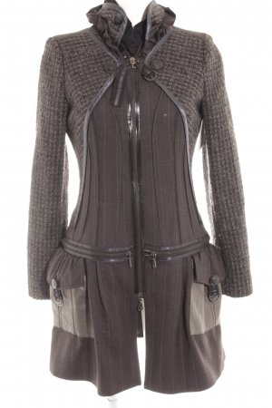 Tricot Chic Wool Coat mixed pattern casual look
