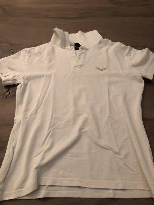 Trigema Blusa tipo Polo blanco-color oro