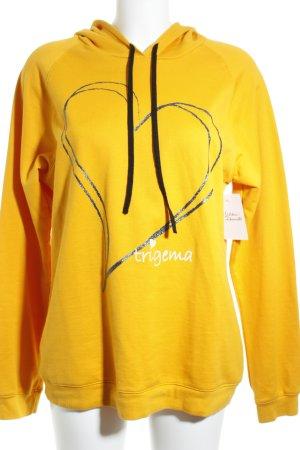 Trigema Sweat à capuche jaune foncé style décontracté
