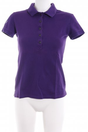 Trigema Polo-Shirt dunkelviolett Casual-Look