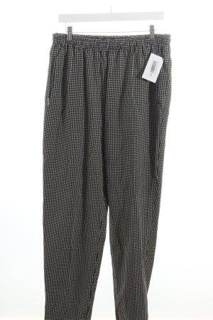 Trigema Stoffhose schwarz-weiß grafisches Muster Casual-Look
