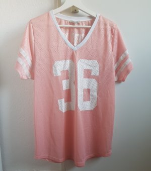 Zara Trafaluc Camisa deportiva blanco-rosa claro
