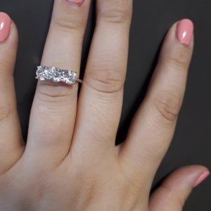 Statement ring wit-zilver Zilver