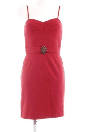 Trina Turk Vestido bustier rojo oscuro look casual