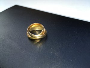 Trinity Ring 585 Gold Weiss Geld Rot Gold Gr. 54