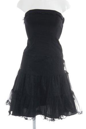 Tripp NYC Vestido bandeau negro look gótico