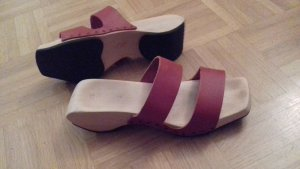 Trippen Clog Sandalen aus Holz und Leder, 37