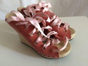 Trippen Plateausandalen in rosa - Geisha-Stil