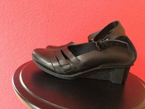 trippen Wedge Pumps black leather