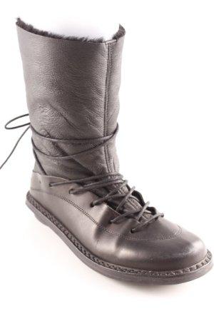 trippen Aanrijg laarzen zwart casual uitstraling
