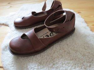 Sandalias de tiras marrón-negro-marrón oscuro Cuero