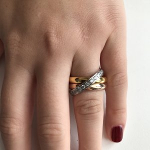 s.Oliver Gold Ring multicolored