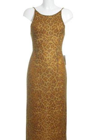 Tristano Onofri Abendkleid dunkelgelb-beige Elegant