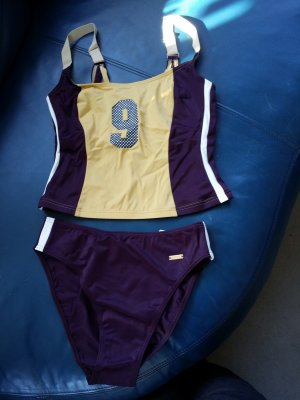 Triumph Swimsuit bordeaux-dark yellow mixture fibre