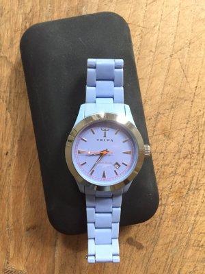 Triwa Uhr Armbanduhr Chrono Plastic Watch lila blau