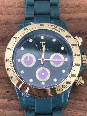 Triwa Uhr dunkelgrün mit Gold