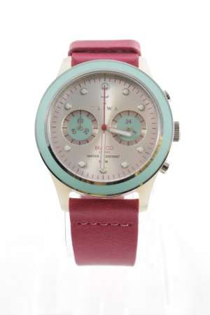 Triwa Watch With Leather Strap magenta-turquoise casual look
