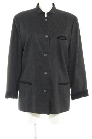 Trixi Schober Folkloristische jas donkergrijs-zwart gestippeld klassieke stijl