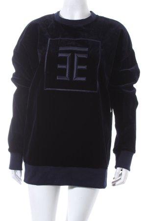 Troisième Studio Oversized Pullover schwarz-dunkelblau sportlicher Stil