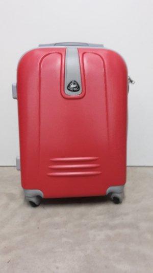 Trolley grigio chiaro-rosso