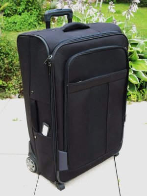 Suitcase anthracite synthetic material