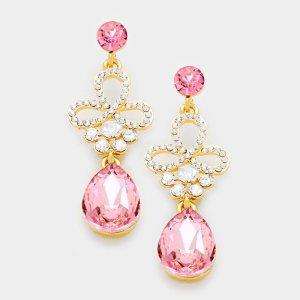 Bungeloorbellen roze-goud