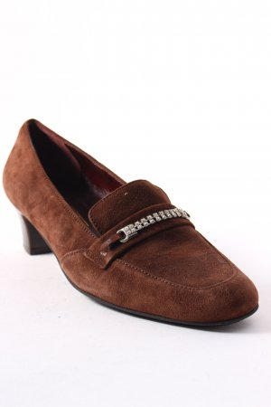 Loafers bruin-zilver elegant