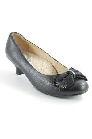 Loafers zwart-zilver elegant