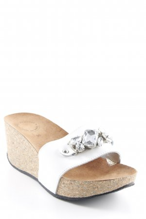 Loafers wit-bruin Sieraden applicatie