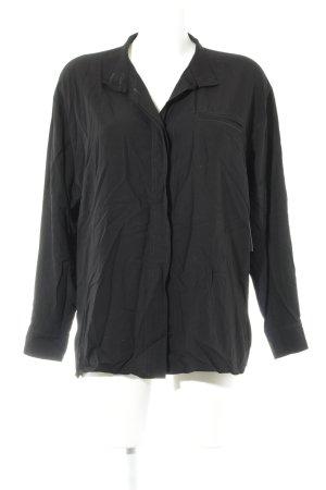 tru blouse Langarm-Bluse schwarz Elegant