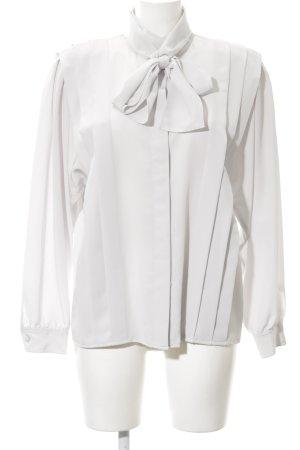 tru blouse Blusa collo a cravatta bianco elegante