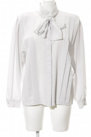 tru blouse Blusa con lazo blanco elegante