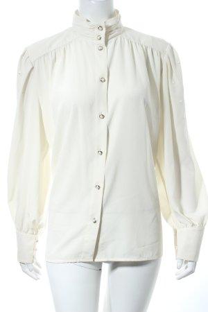 tru blouse Trachtenbluse wollweiß Punktemuster klassischer Stil