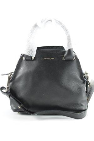 Tru Trussardi Handtasche schwarz schlichter Stil