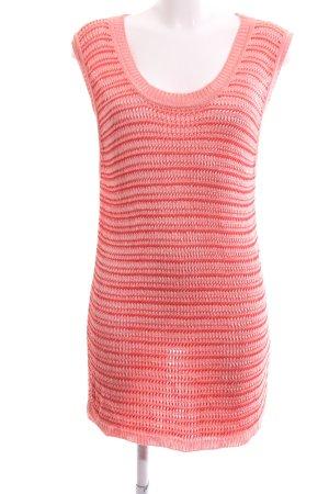 Tru Trussardi Cardigan long rose-rouge motif rayé style décontracté