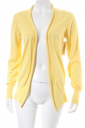 Tru Trussardi Strick Cardigan gelb schlichter Stil